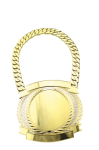 Champ Medal -Bright Gold Oval  Belts