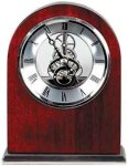 Rosewood Piano Finish Arch Clock Clocks
