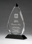 Arrow Series Crystal Award with Black Accent Crystal Awards