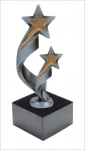 Double Shooting Star Resin on Base Figure on a Base Trophies