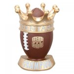 Fantasy Football Crown Trophy Figure on a Base Trophies