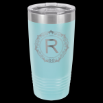Light Blue Stainless Steel Ringneck Double Wall Insulated Travel Mug Gifts