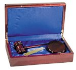 Rosewood Piano Finish Directors Gavel Set Gifts