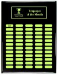 Black Piano Finish - Custom Perpetual Plaque Monthly Perpetual Plaques