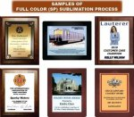 Full Color Plaques - High Gloss Plaques