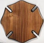 Walnut Veneer Maltese Cross Plaque Shield Plaques
