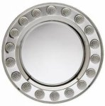 Round Silver Tray With Golf Vases/Bowls/Plates